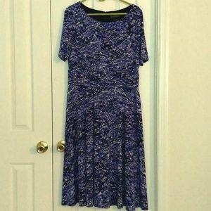 Navy Multi-Colored Jessica Howard Work Dress